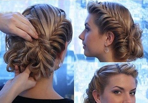 Gorgeous Prom Updo with Fishtail Braids