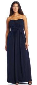 cheap Jessica Simpson plus size blue prom dress