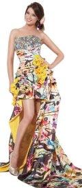 cheap designer high low jovani prom dress