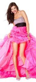 cheap designer jovani pink prom dress