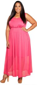 cheap pink  Fuchsia size prom dress