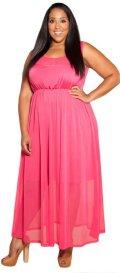 cheap pink  Fuchsia size prom dress