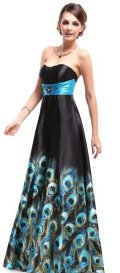 cheap prom dresses uder 100 black peacock
