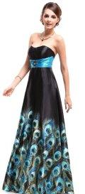 cheap prom dresses uder 100 black peacock