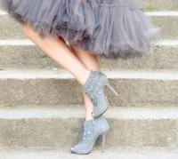 prom dress ankle booties