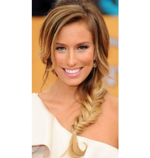 prom hairstyle with braid 2014