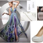 Styling Floral Prom Dress with Silver Accessories