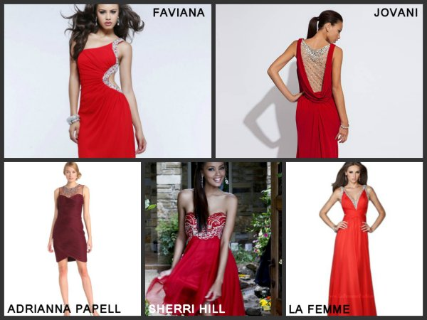 designer red prom dresses