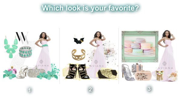 pink prom dress accessories