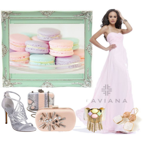 pink prom dress with soft pastel accessories