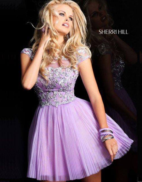 short light purple prom dress by sherri hill