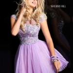 Cute Short Purple Prom Dresses