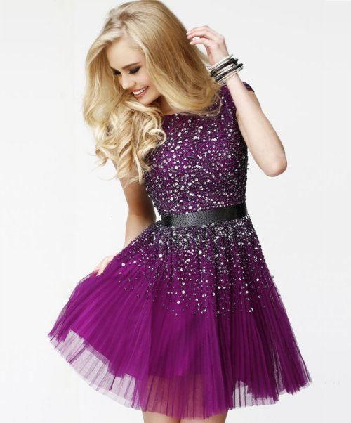 Short Purple Prom Dresses