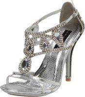 cheap rhinestones silver prom shoes