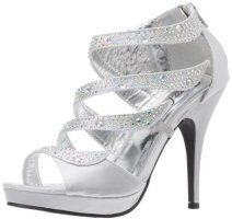 Silver Prom Shoes - Cheap, High Heel, Flat Silver Shoes