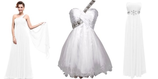 cheap white prom dresses