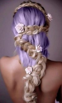 cool long prom hairstyle braid