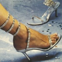 high silver prom shoes-