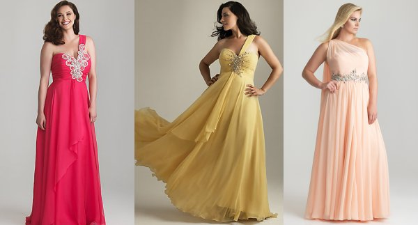 One Shoulder Plus Size Prom Dresses