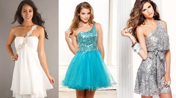 short one shoulder prom dresses