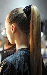 sleek prom hairstyle for long hair