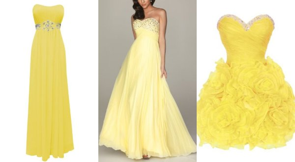 cheap yellow prom dresses
