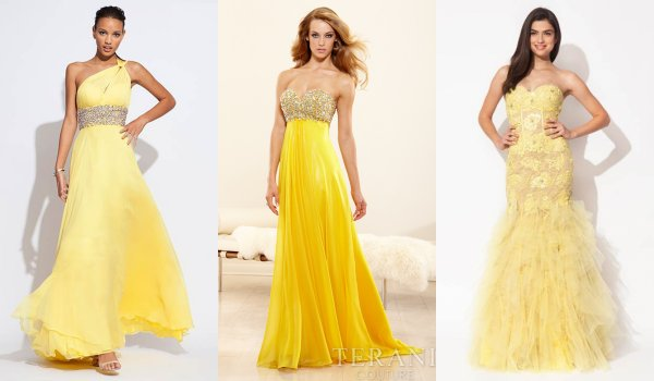 Yellow Plus Size Prom Dresses 116