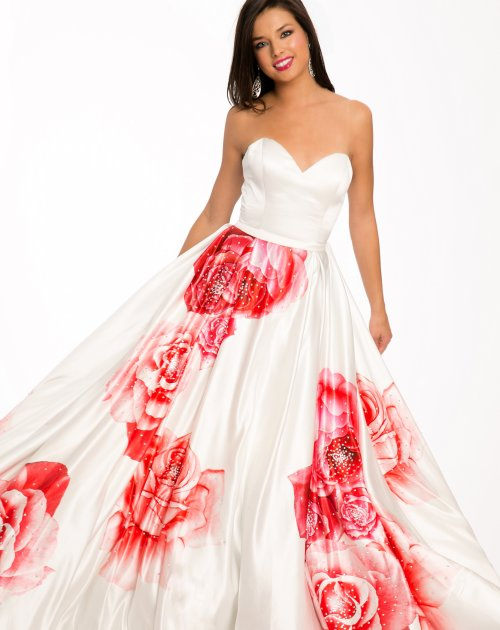 23946-beautiful white prom ball gown with red rose design by Jovani 2015