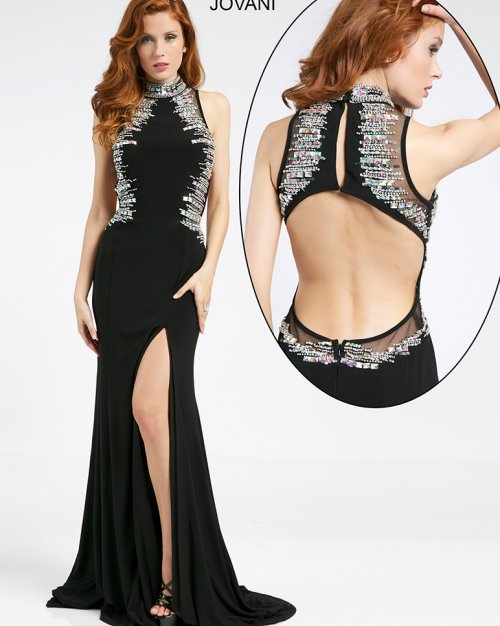 98527-gorgeous black silver prom dress with open back 2015 by jovani