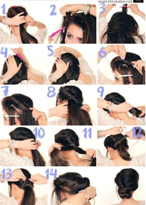 Box braid bun tutorial photo