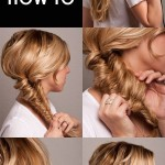Gorgeous Messy Fishtail Braid Prom Updo 2015 – Tutorial