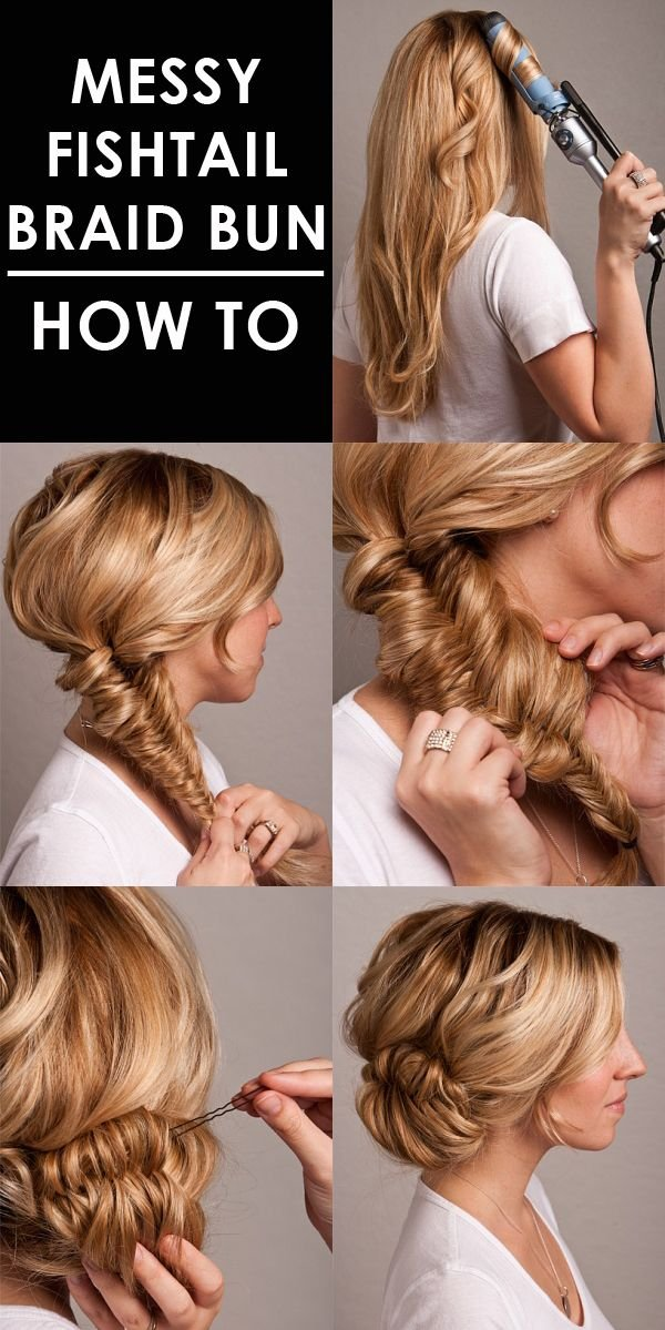 Messy Fishtal Braid prom updo tutorial 2015