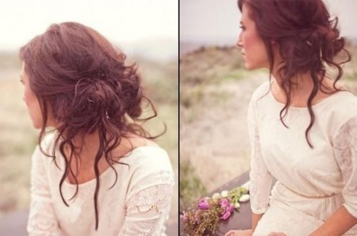 Messy and classy prom updo hairstyle 2015