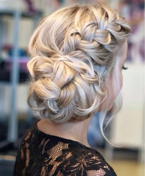 braided side prom updo hairstyle 2015