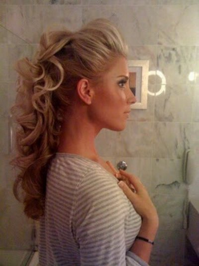 Half updo prom hairstyles 2015 for long hair elegant curly prom half updo hairstyle 2015 pmusecretfo Choice Image