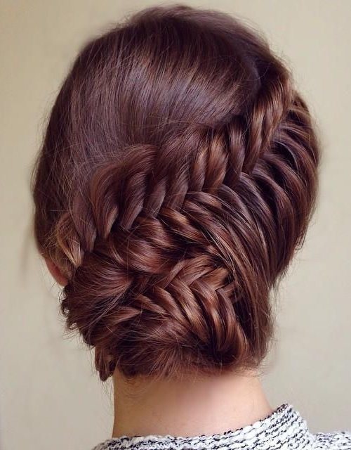 lovely braided prom updo hairstyle 2015