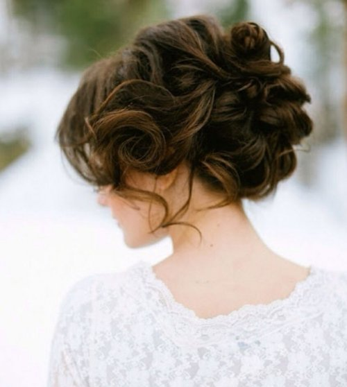 romantic messy prom updo hairstyle 2015