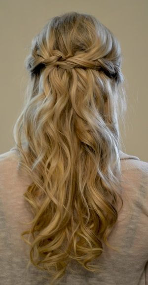 simple half updo prom hairstyle 2015