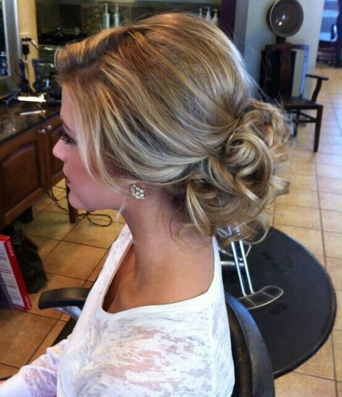 sweet prom updo hairstyle with curls 2015