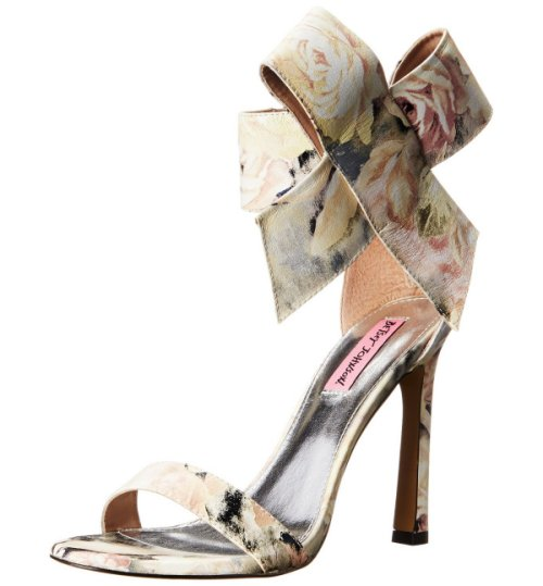 elegant strappy floral prom sandals 2015 by Betsey Johnson Friskyy