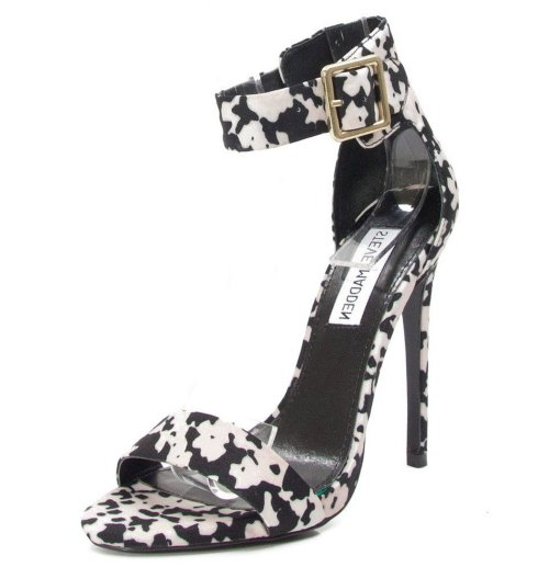 sexy black white prom sandals 2015 by Steve Madden Marlenee