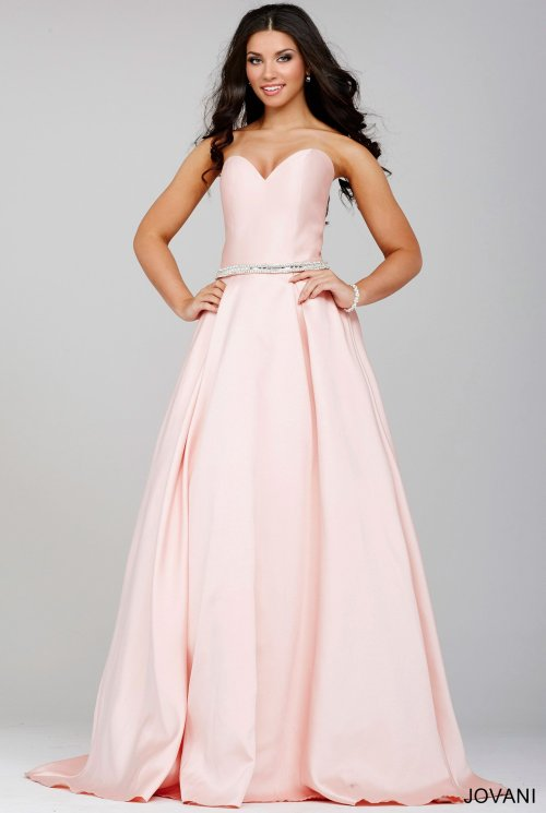 pretty jovani prom dress 2016 in blush -28899
