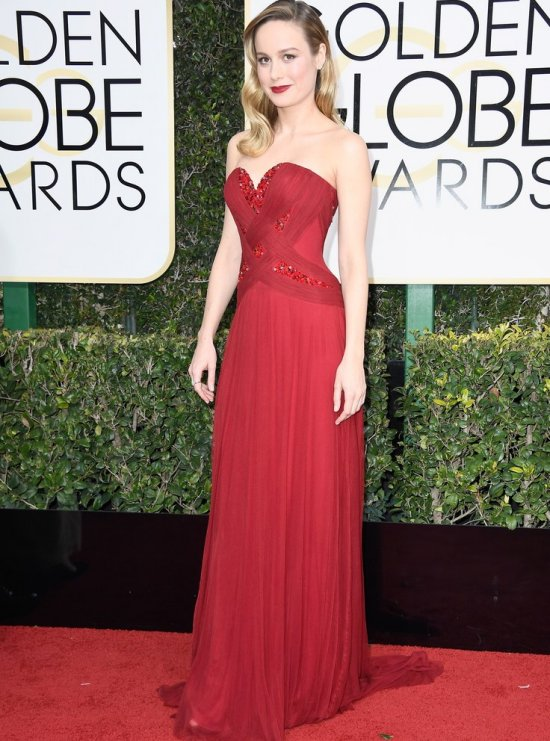 Golden globes dress Brie Larson