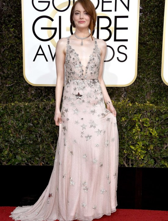 Golden globes dress valentino Emma Stone