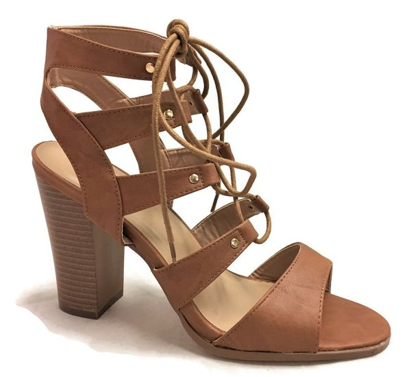 Forever Fashion earthy strappy prom shoes