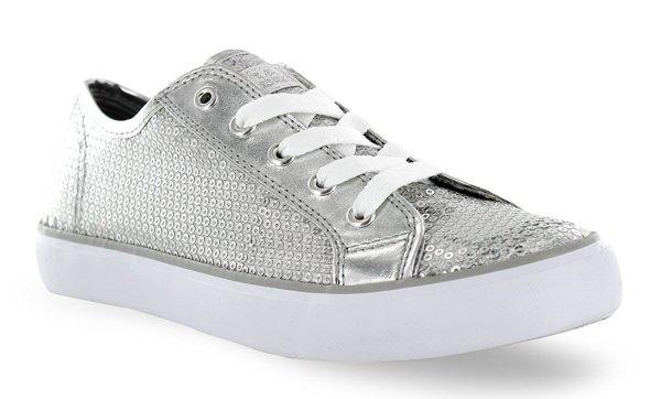 Gotta Flurt silver sequin prom sneakers