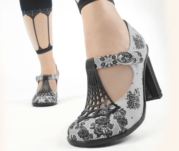 Hot Chocolate Design spirder web mary jane prom shoes