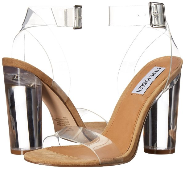 Steve Madden clear prom sandals