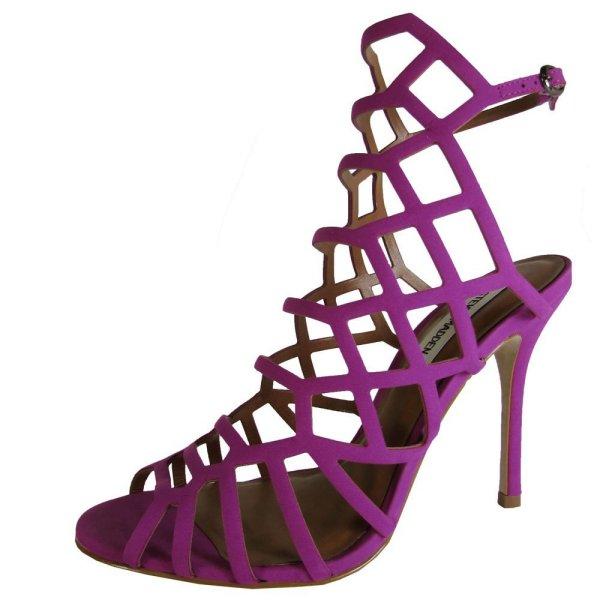 Steve Madden velvet fuchia prom strappy shoes