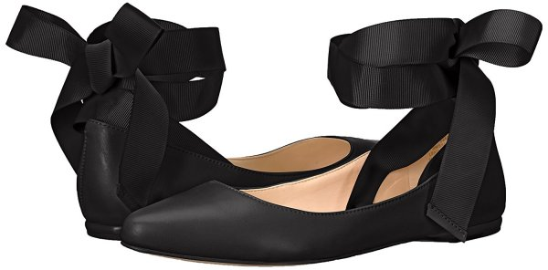 nine west black ballet flats